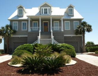 Coastal landscaping can be challenging due to salt exposure.