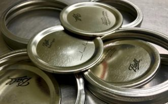 Two-piece lids are recommended for canning foods.