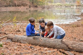 William, Ashley, Claire and Cole are enjoying the family's nature activities. Sue Watts, ©2020, Clemson University