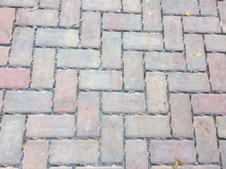Permeable pavers used on a residential patio.